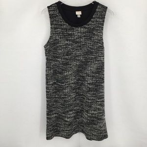 Who What Wear black white boucle shift knit dress